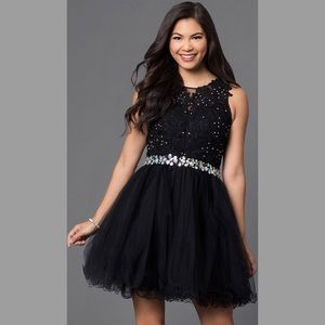 Semi Formal Short Lace Embellished HOCO Dress NWT